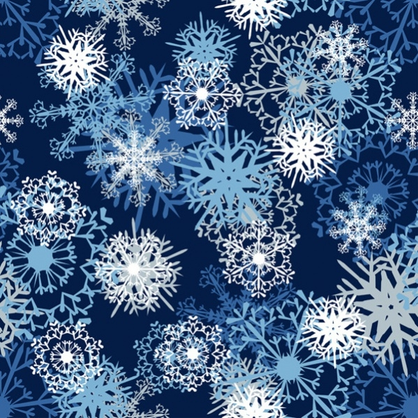 High Resolution Seamless Snowfake Pattern