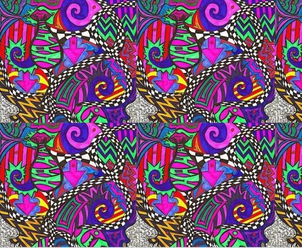 High Resolution Trippy Pattern