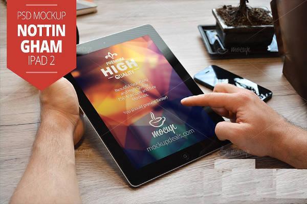High Resolution iPad Mockup