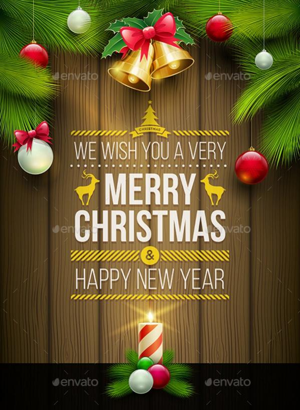 Highly Editable Christmas Poster