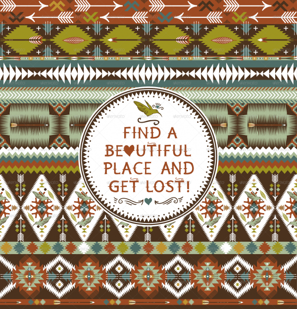 Hipster Vector Aztec Pattern