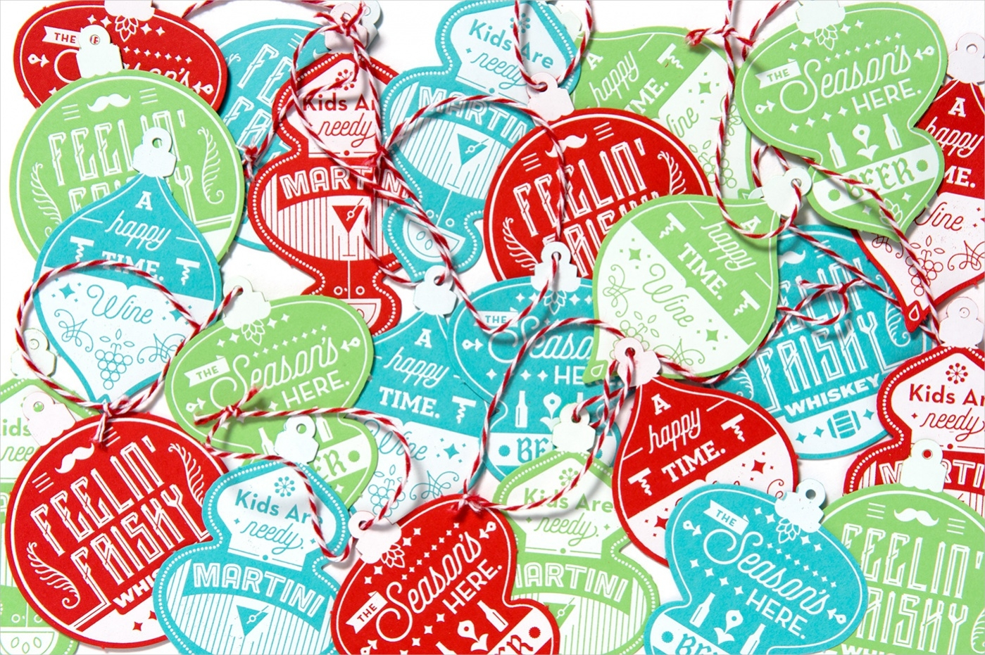 holiday punch bottle tags