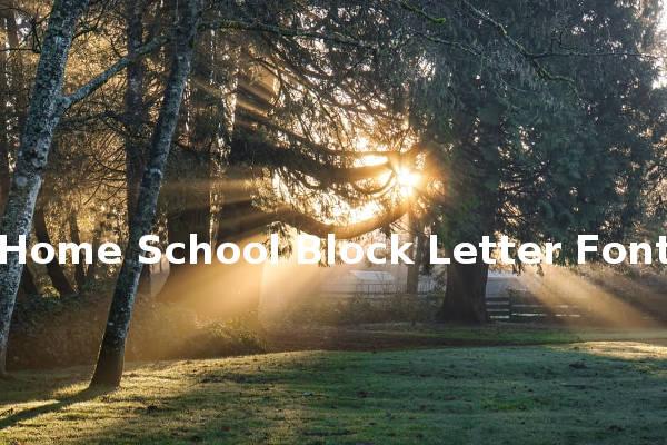 Home School Block Letter Font