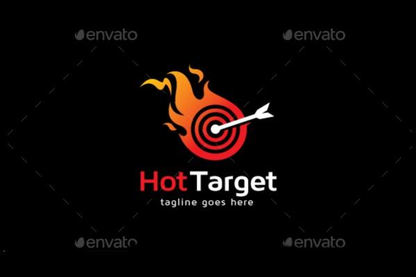 Hot Vector Target Logo