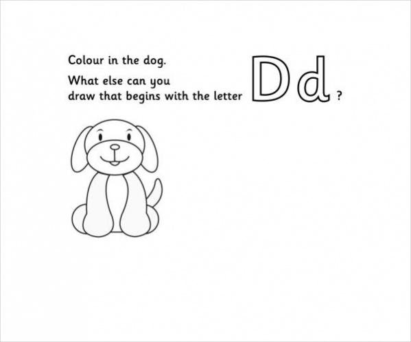 Imagination Alphabet Colouring Page D