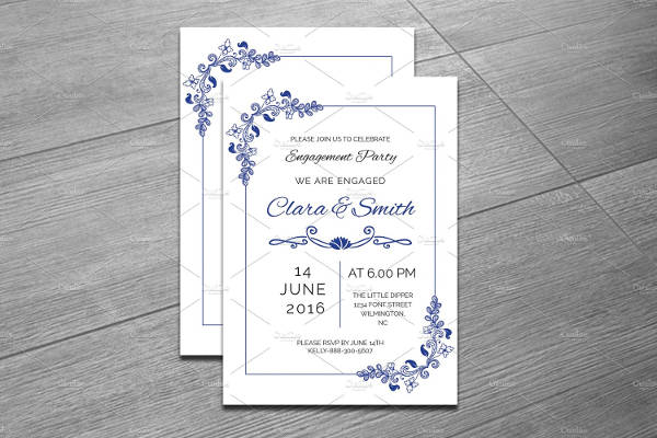 indesign engagement party invitation