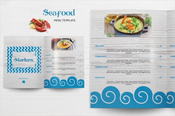 Indesign Sea Food Menu