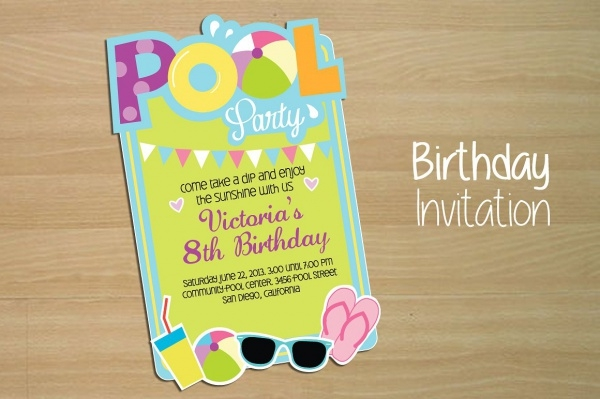Invitation For Pool Party