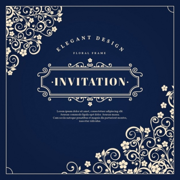 Invitation With Floral Ornaments