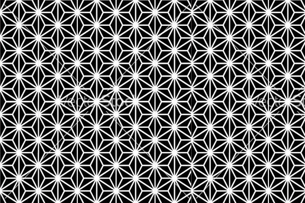 Japanese Black and White Pattern