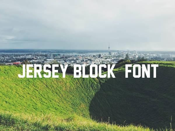 Jersey Block Font