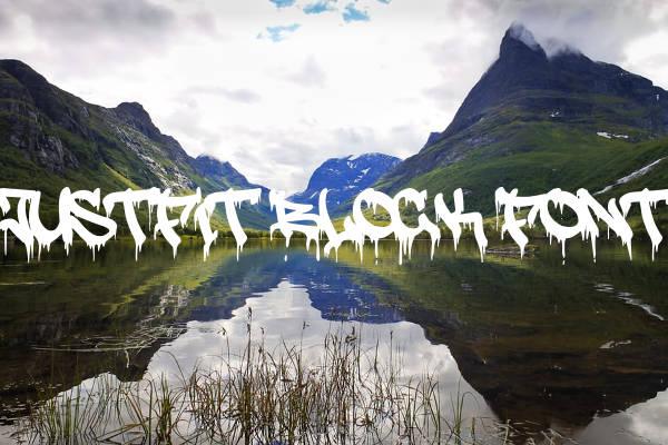 Justfit Block Font