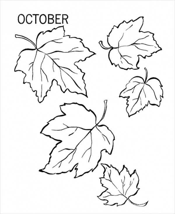Kids Fall Coloring Page