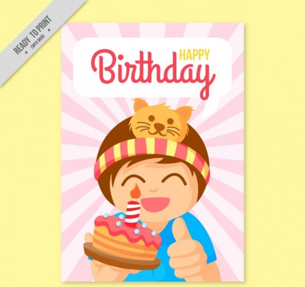 Kids Happy Birthday Card