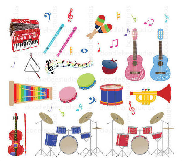 Kids Musical Instruments Clipart