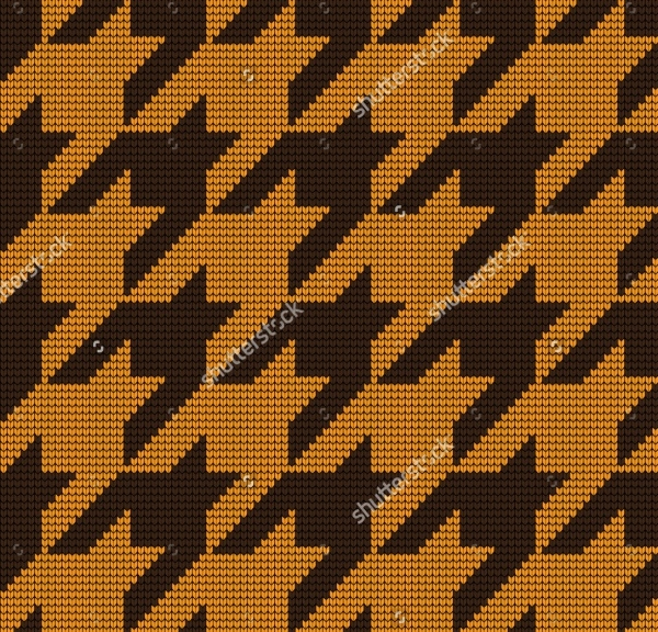 Knitted Houndstooth Pattern