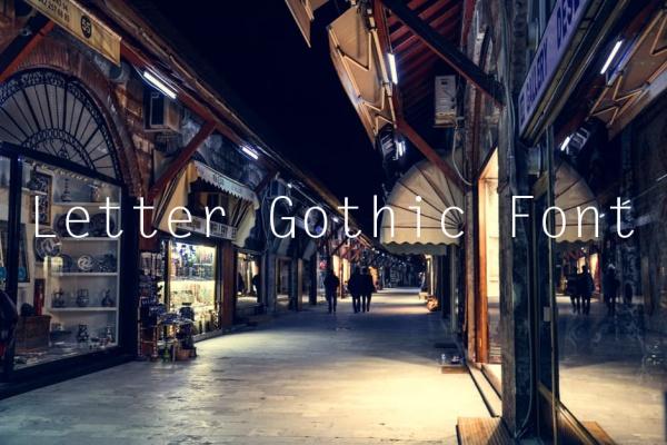 Letter Gothic Font