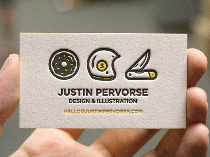 Letter Pressed Business Card