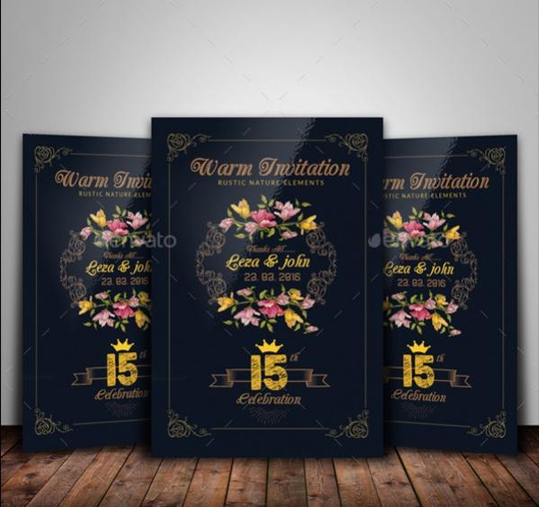 Luxury Floral Invitation Card