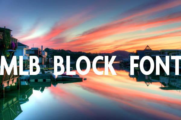 MLB Block Font