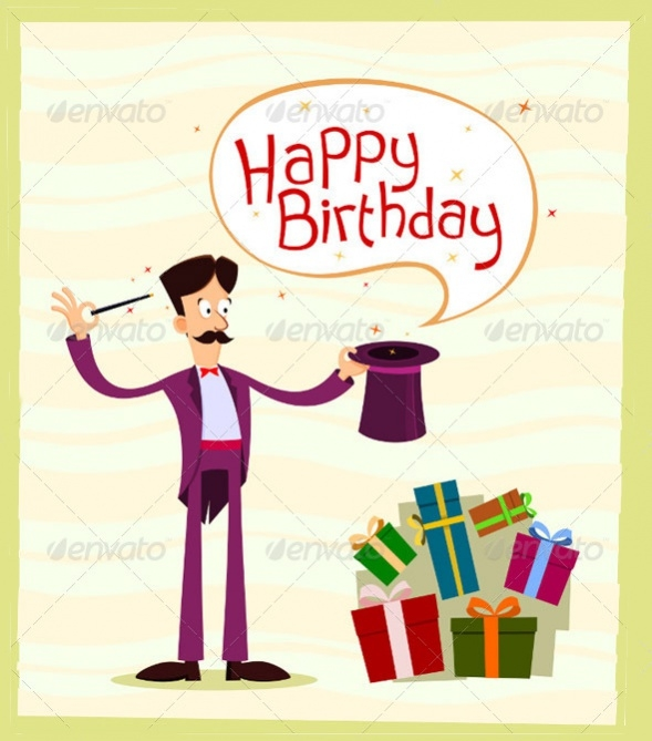 Magician Happy Birthday Greetings