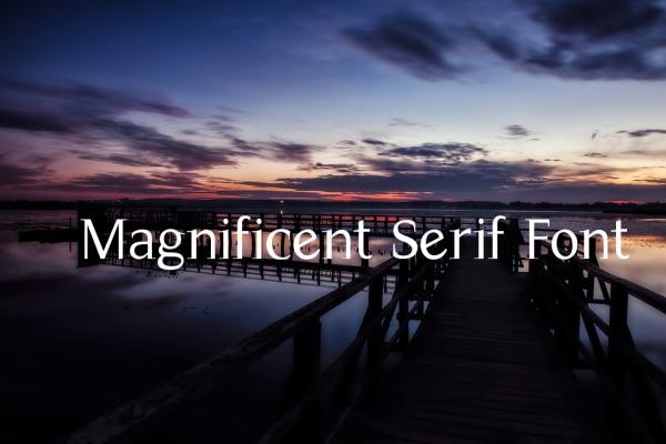 Magnificent Serif Font