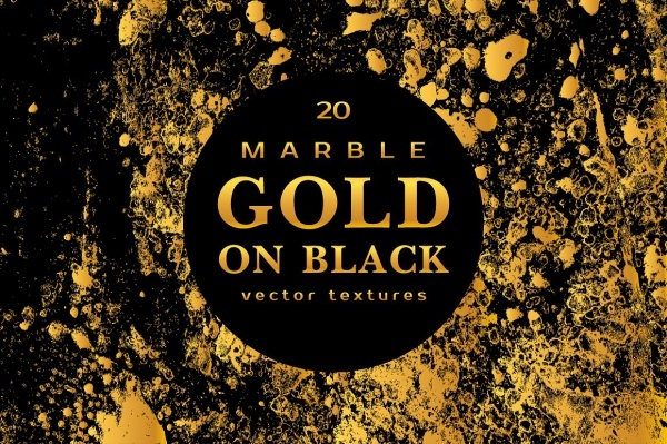 Marble Gold & Black Texture