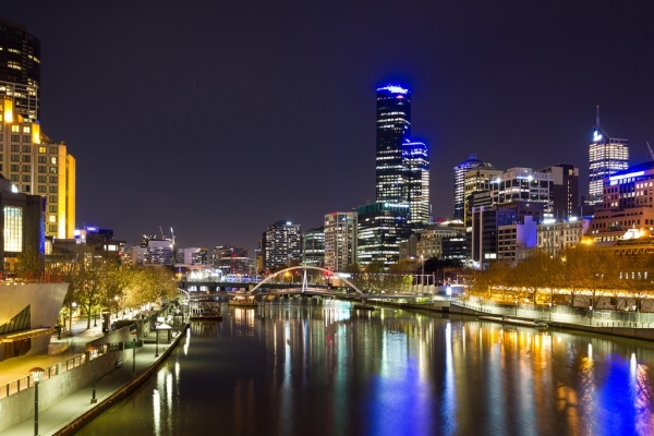 Melbourne City Night Photography
