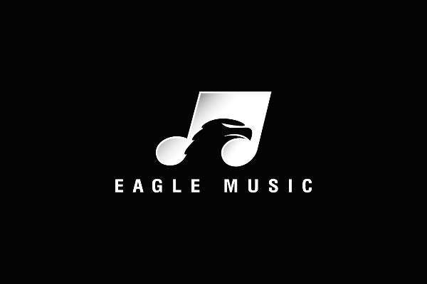 Melody Musical Note Eagle Logo