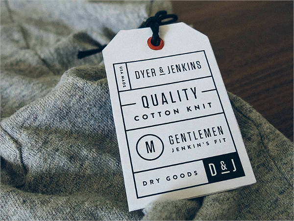 Mens Wear Clothing Label
