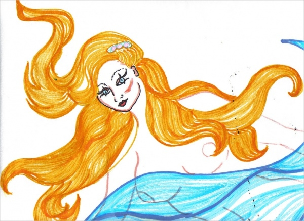 Mermaid Cartoon Drawing