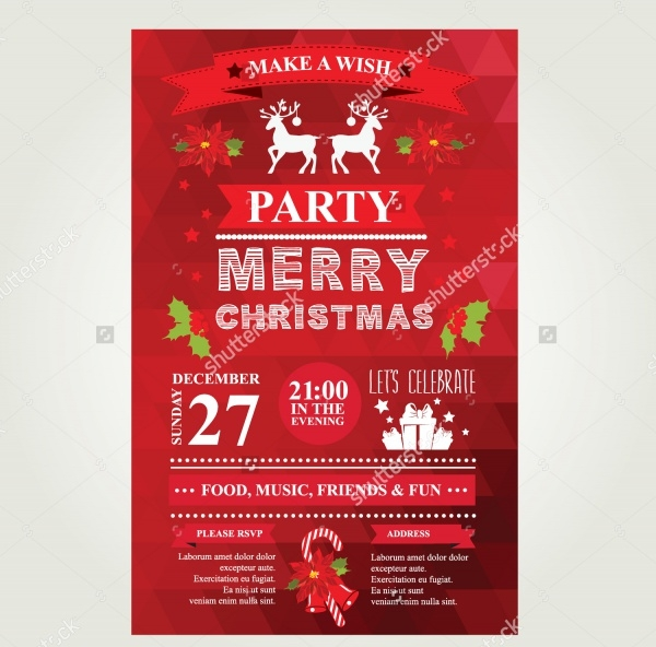 Merry Christmas Invitation Vector