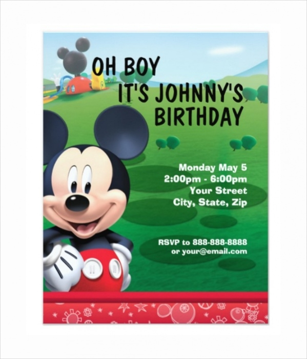13+ Mickey Mouse Invitation - Psd, Vector Eps, Ai Illustrator Download