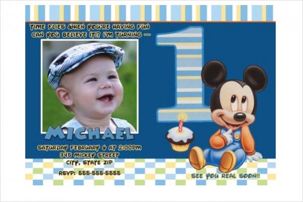 12 Mickey Mouse Birthday Invitations JPG PSD AI Illustrator