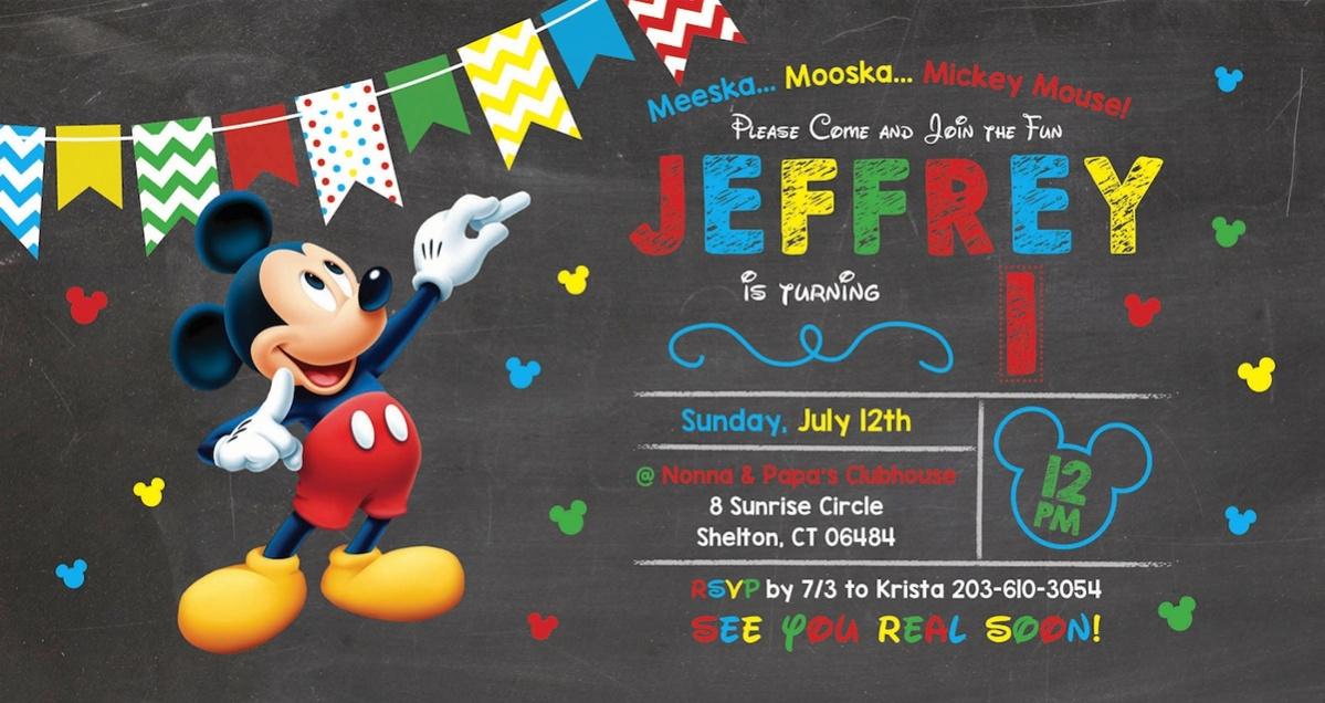 Ordinaire Mickey Mouse Invitation For Free