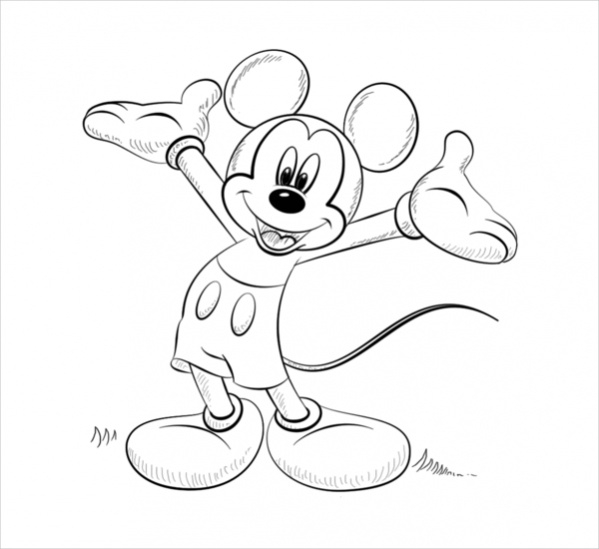 Mickey Mouse Printable Coloring Page