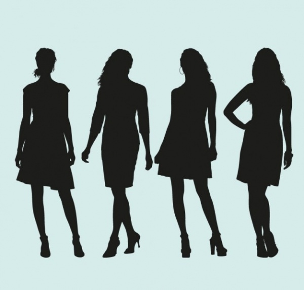 Models Silhouettes Free vector