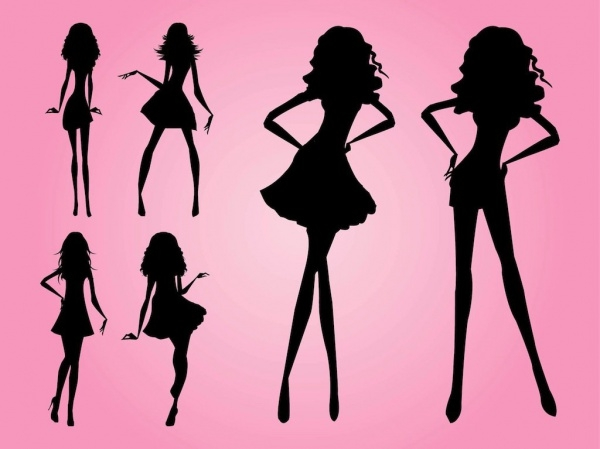 Modern Silhouettes vector