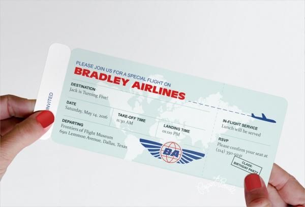 Modern Airline Ticket