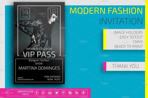 Modern Fashion EventInvitation