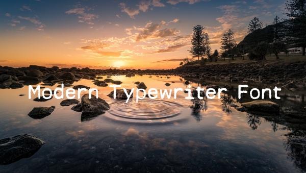 Modern Typewriter Font