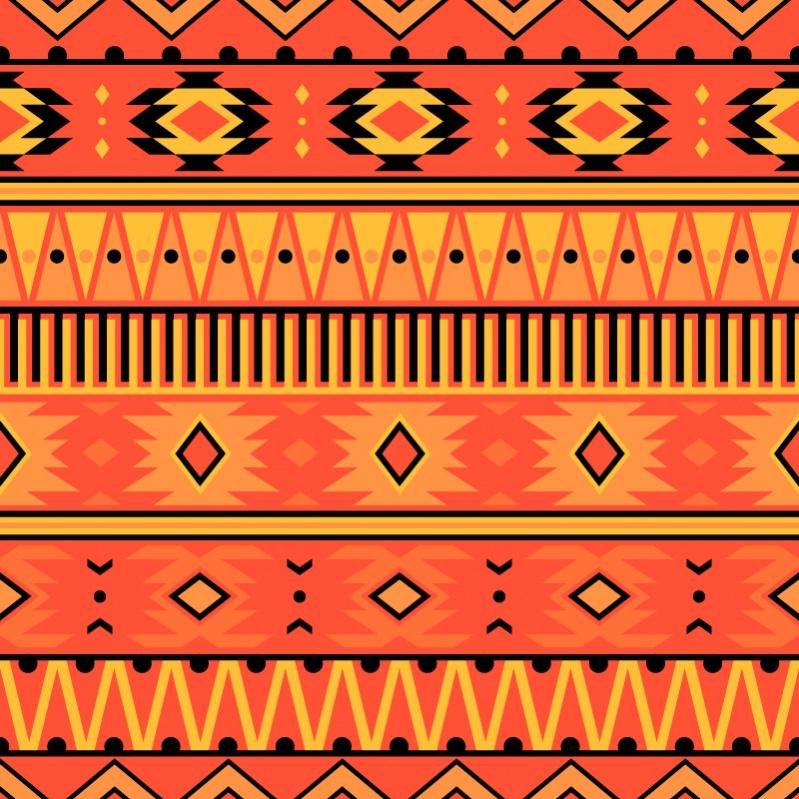 Modern bright Aztec pattern