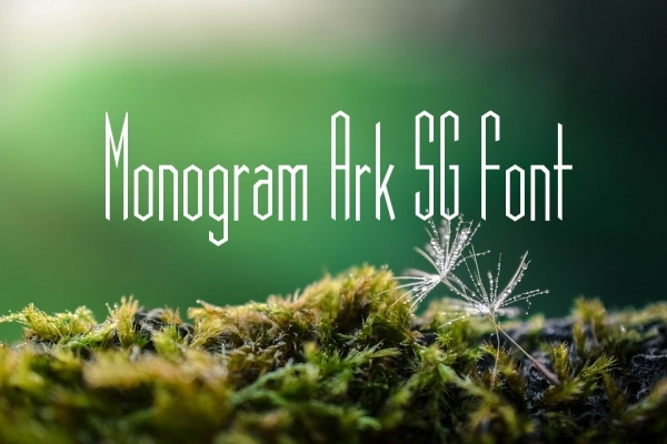 Monogram Ark SG Font