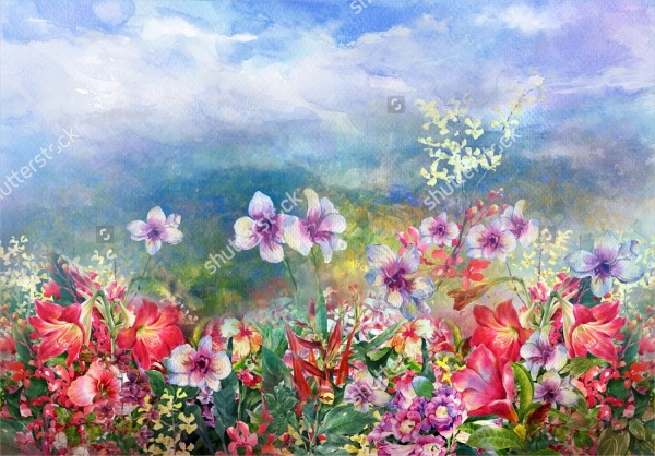 Multicolored Flower Painting