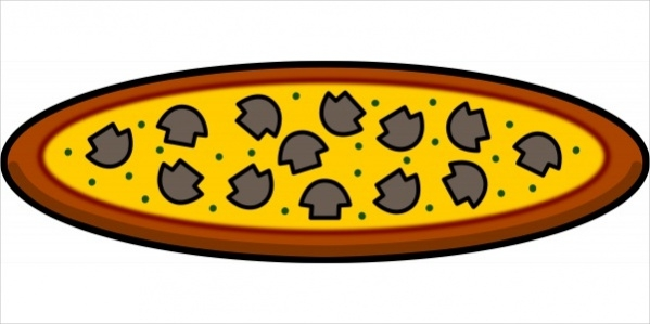 Mushroom Pizza Clipart