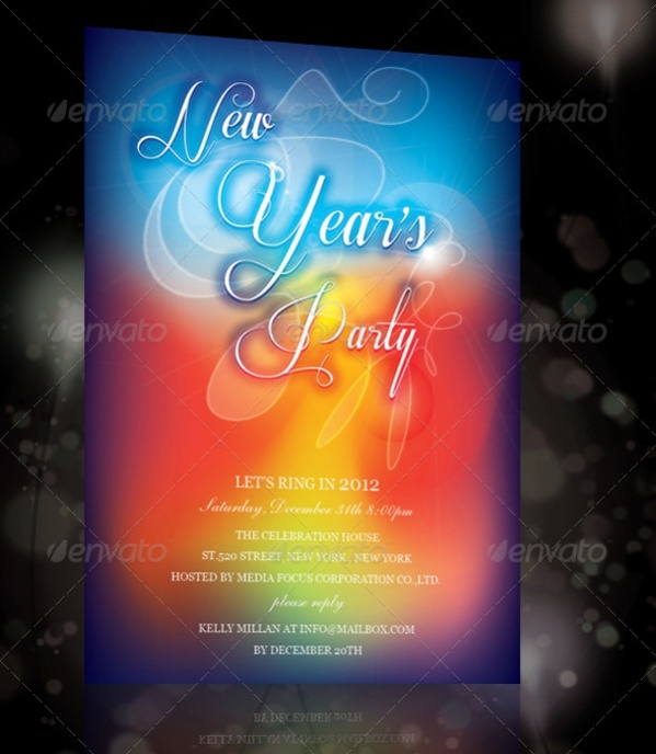 New Year Invitation with Program