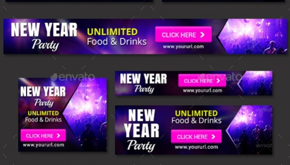 New Year Party Banner
