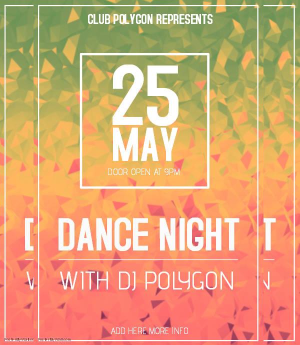 Night Event Flyer Design
