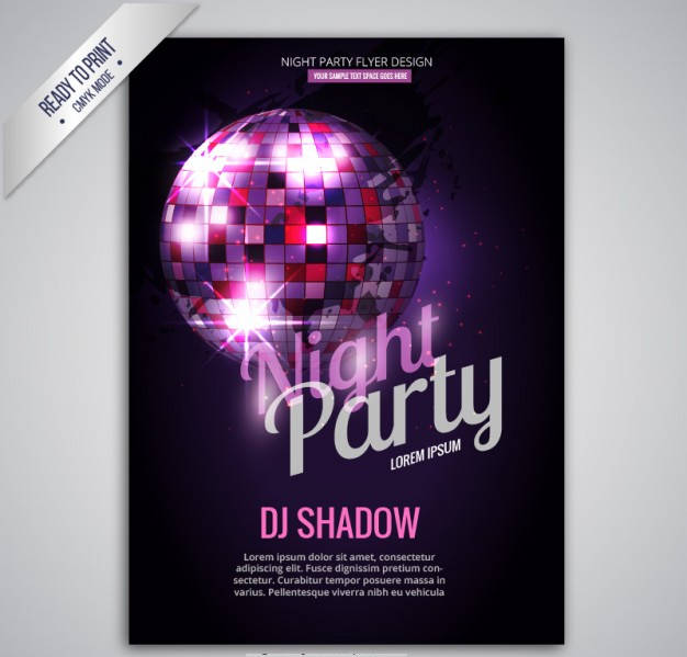 Night Party Concert Poster