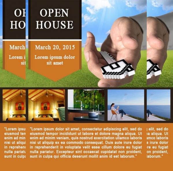 Open House Flyer PSD
